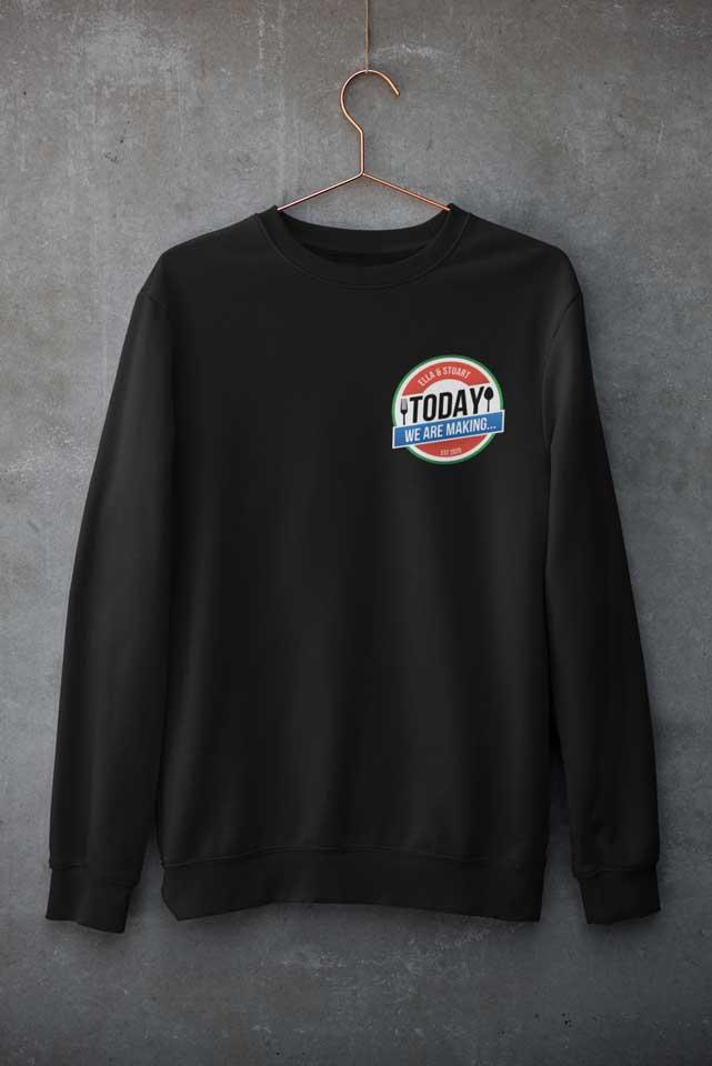 Black Crew Neck Sweatshirt - Today We Are Making