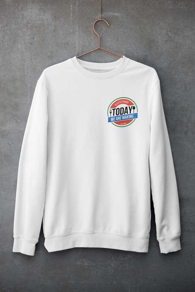 White Crew Neck Sweatshirt - Today We Are Making